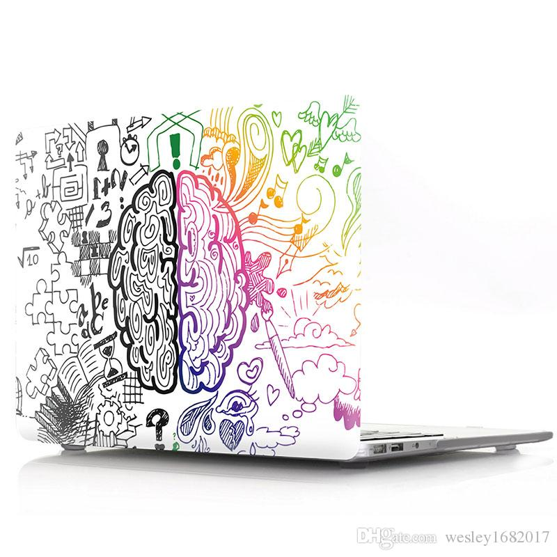 "Graffiti Left and Right Brain Rubberized Hard Shell Case Cover,Plastic hard shell for macbook12""/15.4""pro/air11"