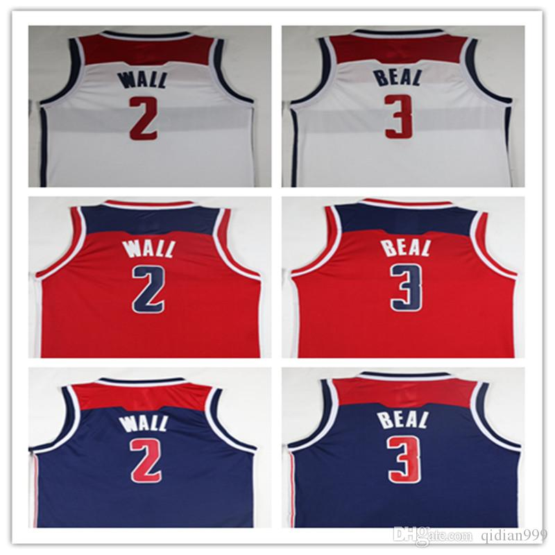 New Fan 2018 New Cheap Jerseys 2  Wall Jerseys 3  Beal Embroidery Logos  John Wall Red White Basketball Jersey Online with  21.37 Piece on  Qidian999 s Store ... a2cb55829
