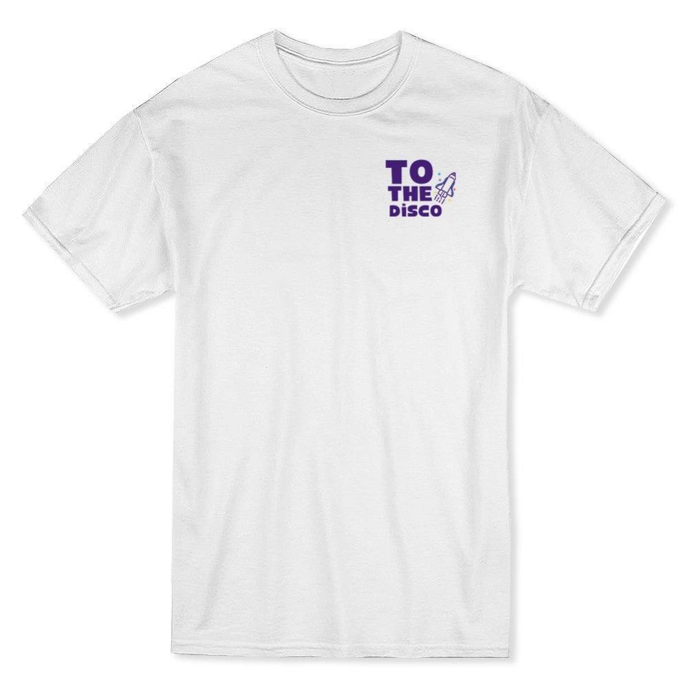 7433d51b1c Compre Camisa Venda Para O Disco Esquerda No Peito Gráfico Dos Homens  Branco Máquina De Impressão De Manga Curta O Pescoço T Camisas Para Os  Homens De ...