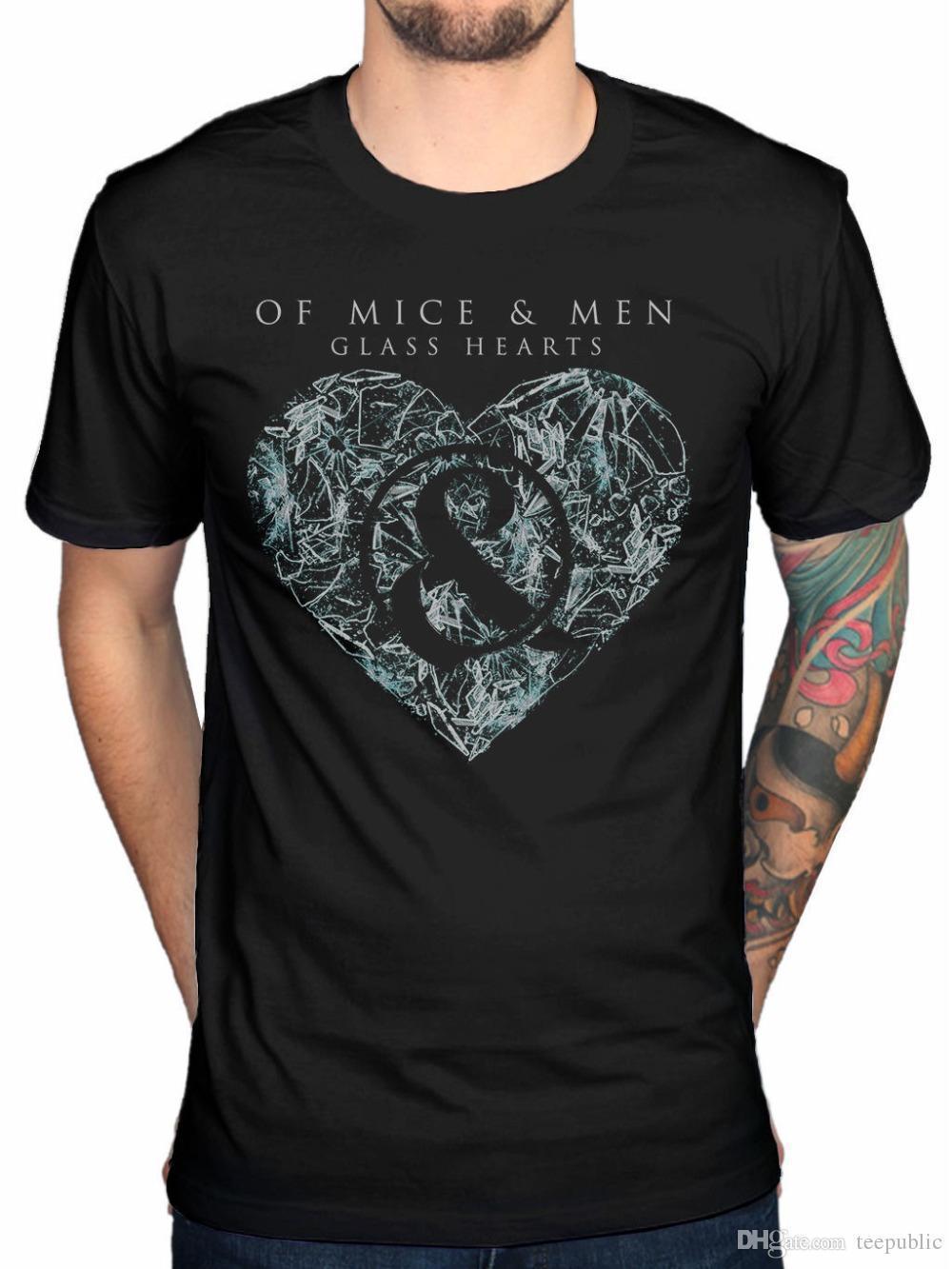 Company T Shirts Print Of Mice Men Glass Hearts Mens T Shirt Black