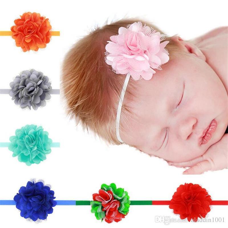 Acquista Neonate Fasce Fiore Pizzo Mesh Hairbands Neonati Infant Toddler Fascia  Capelli Testa Pezzo Bambini Accessori Capelli Neonato Copricapo KHA71 A ... a1de9d9be45a