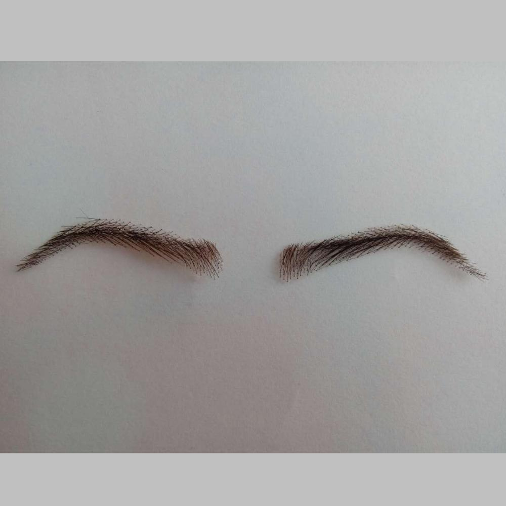 Wholesale Fashion Hand Made Human Hair False Eyebrow Hand Knot Swiss
