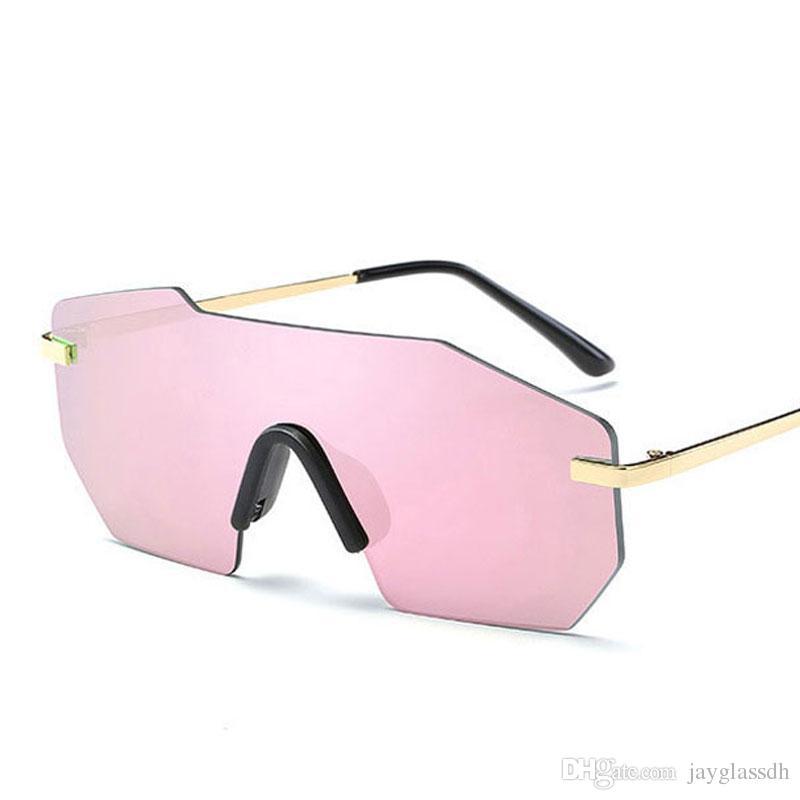 Compre Espejo Sin Montura Gafas De Sol Para Hombres Mujeres ...