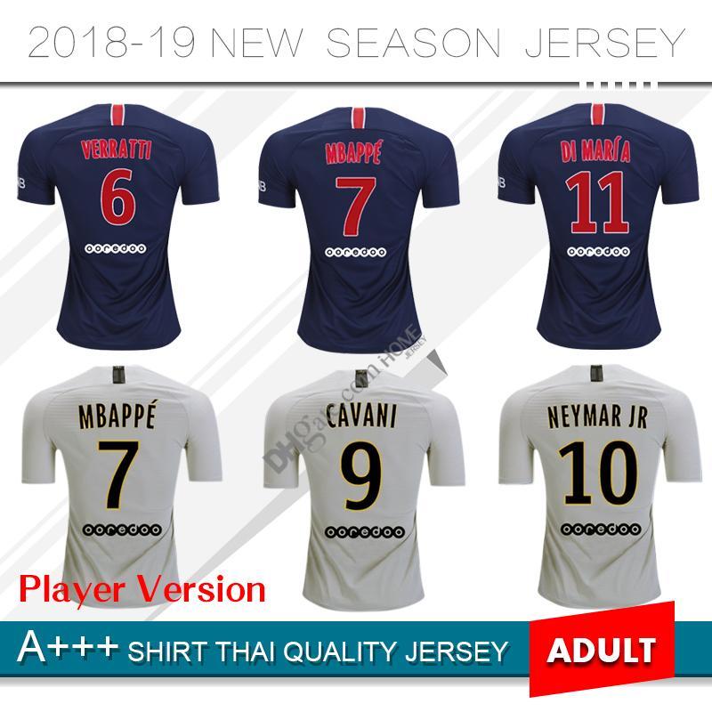 9b16f15d5bc 2019 18 19 Player Version PSG #10 NEYMAR JR Home Soccer Jersey 2019 Paris  Saint Germain Home Soccer Shirt #6 VERRATTI #7 MBAPPE Football Uniform From  ...