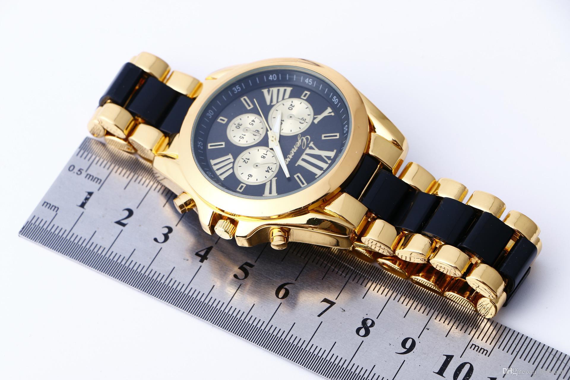 Classico orologio da donna al quarzo di Ginevra Orologio da uomo di moda stile romano, orologio da uomo d'affari, involucro di lusso, orologio da polso da regalo di lusso all'ingrosso