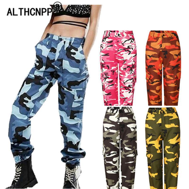 5c9e7d95c755 Acquista Pantaloni Mimetici Donna Streetwear Pantaloni Harem Casual Pantaloni  Hip Hop Camo Pantaloni Sportivi Da Donna Pantalon Camouflage Femme  S18101606 A ...