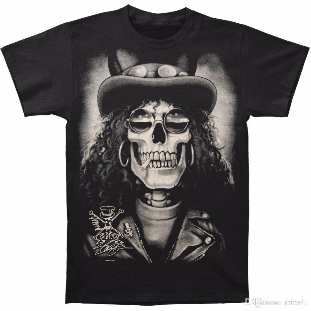 7b75a56e Cartoon Print T Shirt Free Shipping Design O-Neck Slash Men's Slash Skull T-shirt  Size S To 3XL Short-Sleeve Mens T Shirts