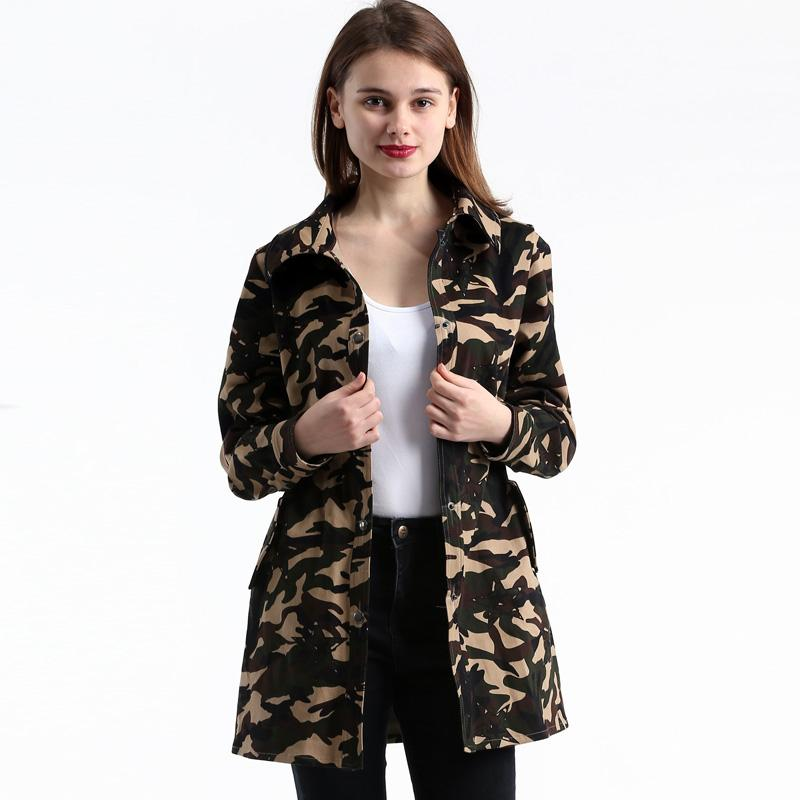 095fede5fec32 Compre Moda Trench Abrigo De Camuflaje Para Mujeres Primavera Abrigo De Las  Mujeres 2018 Plus Size Trench Mujer Envío Gratis Abrigos Mujere ZY17047 A   50.42 ...