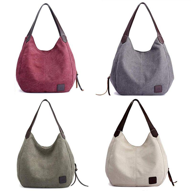 c7b91b6c7 2018 Canvas Bag Vintage Canvas Shoulder Bag Women Handbags Ladies Hand Bag  Tote Casual Bolsos Mujer Hobos Bolsas Feminina 0256 Pink Handbags Branded  ...