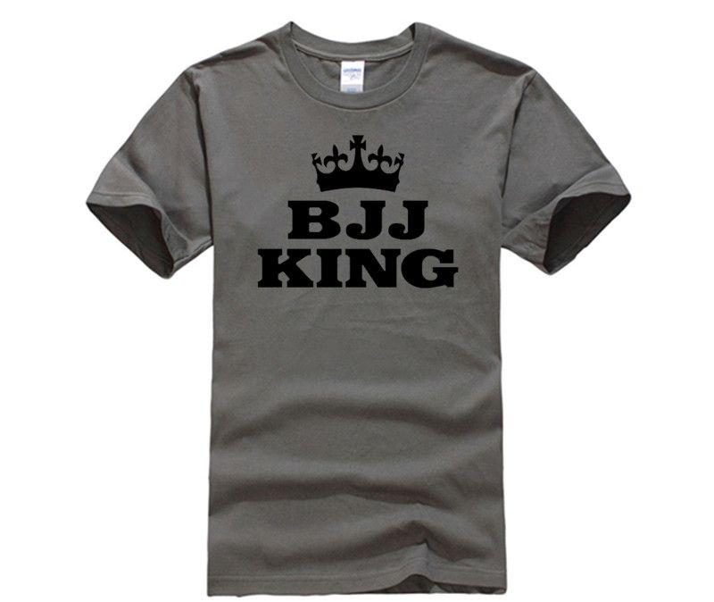 f0cf1b49b1 Men's O-Neck Short Funny T Shirt Men's Bjj Jiu Jitsu King Tee Shirt Custom  Short Sleeve Birthday's T Shirts