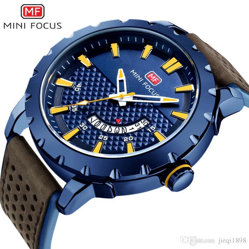 2a0d730cb42 Compre Relogio Masculino MINI FOCO Nova Data Homens Relógios De Pulso Famoso  Charme 2018 Relógio De Quartzo Top Marca Masculino Relógio Montre Homme  Hodinky ...