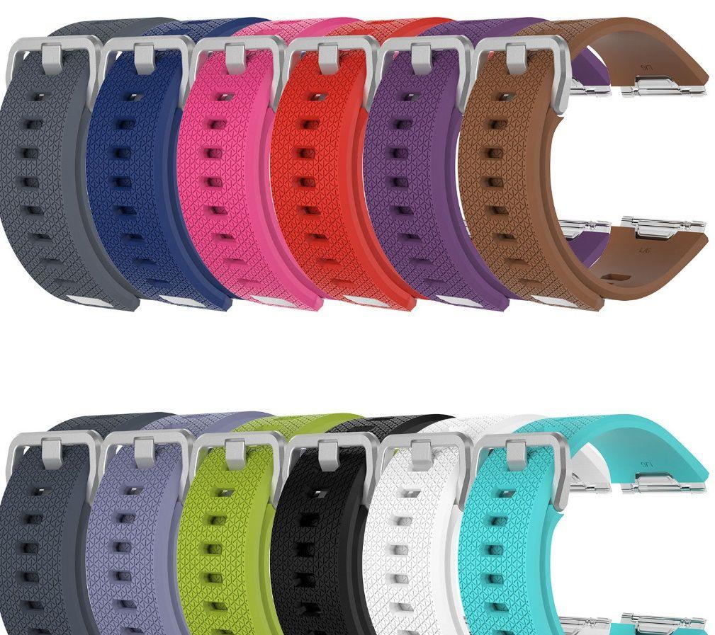 Para Fitbit iónicos Wrist Wearables TPE Silicona Correas Band Watch Classic Reemplazo bandas / L