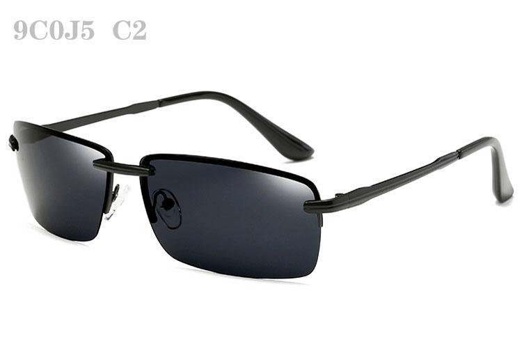 Óculos de sol para homens Vintage Sun Glasses Moda moda Mens polarizada Sunglases Luxo Polar Sunglass aro Designer Sunglasses 9C0J5