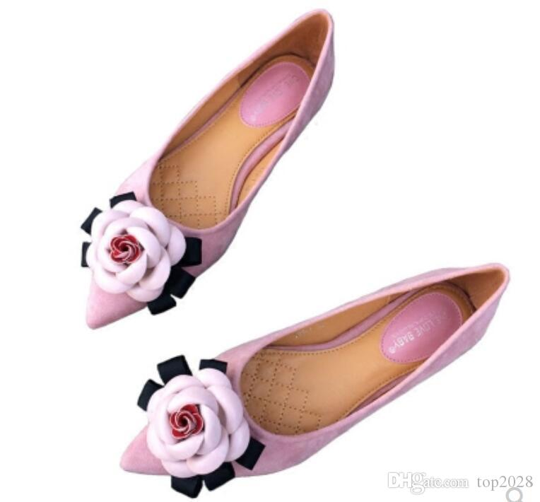 sale outlet Women Flats classic New arrive luxury classic Flowers Camellia fashion brand Soft comfortable Genuine Leather Sexy pointed wedding sheos release dates cheap price cheap sale how much perfect for sale peYT9OJuUi