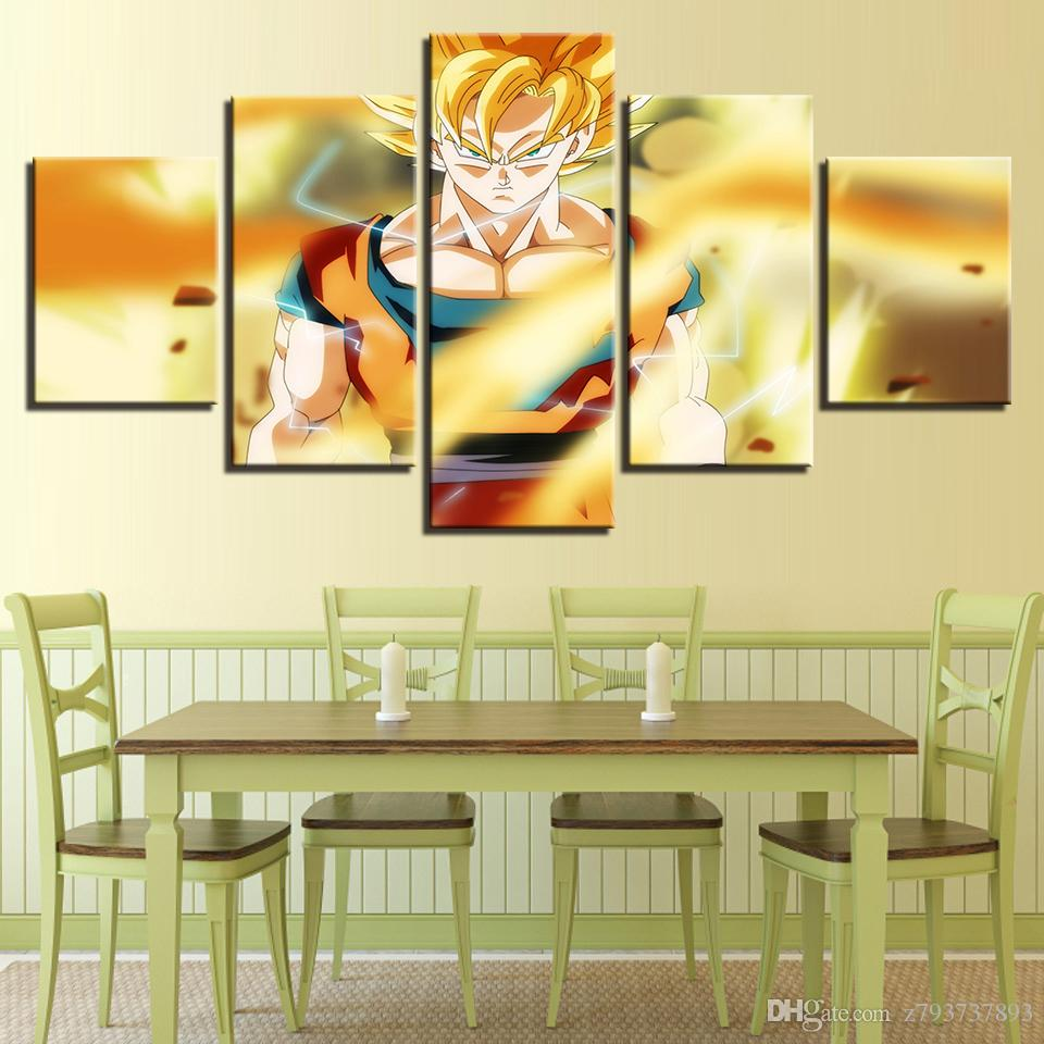 Modular Canvas 5 Panel Dragonball For Living Room Home Decoration ...