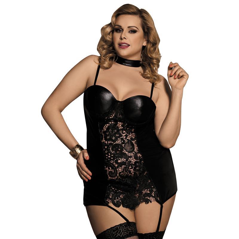 caaa1446c Lingerie Sexy Para As Mulheres Para O Sexo Babydoll Roupa Interior Da  Mulher De Couro Erótico Lingerie Porno Trajes Sexy Com Liga M-5XL R80385  D18110801