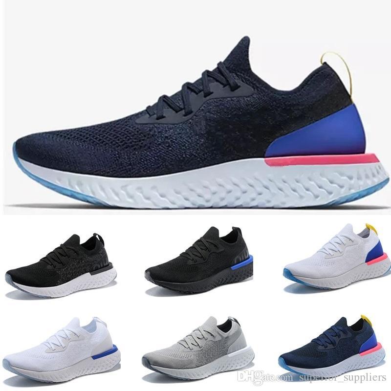 check out 8b4d2 83688 2018 Epic React Para Mujer Para Hombre Instantáneo Go Fly Breath Negro  Blanco Gris Azul Para Deporte Al Aire Libre Athletic Entrenador Sneakers  Athletic ...
