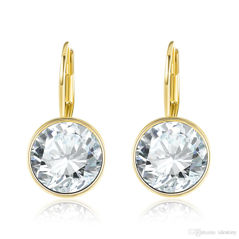 3de75be5a 2019 2018 Gold Color Bella Earrings For Women White Crystal From Swarovski  Fashion Stud Earrings Wedding Party Jewelry Gift From Idestiny, $4.82 |  DHgate.