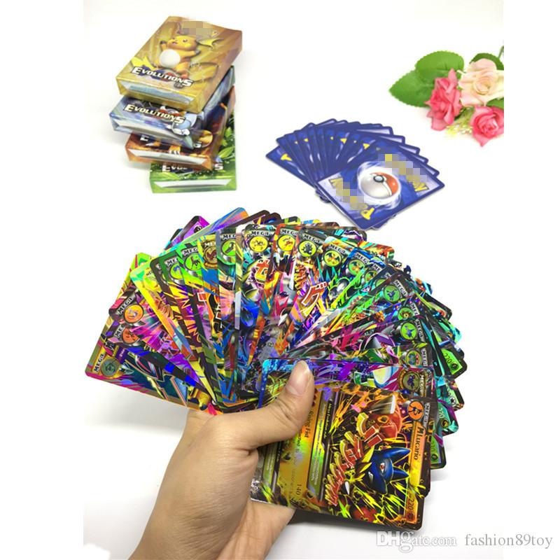 Sun&Moon Evolution Trading Cards Games Anime Pocket Monsters Cards Toys Super Heros 1bag=1lot=Playing Cards Carton box package