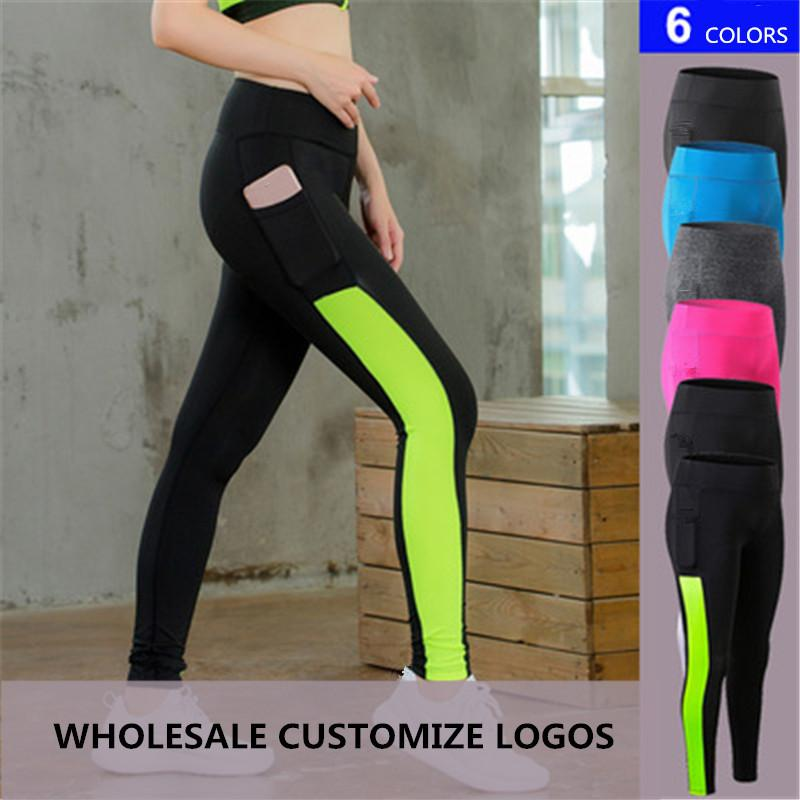 6a63000da765d 2019 Sexy Mesh Yoga Pants Women's Sports Tights Trousers with Pocket Girls  High Waist Slim Quickly Dry Running Fitness Leggings Plus Size XL
