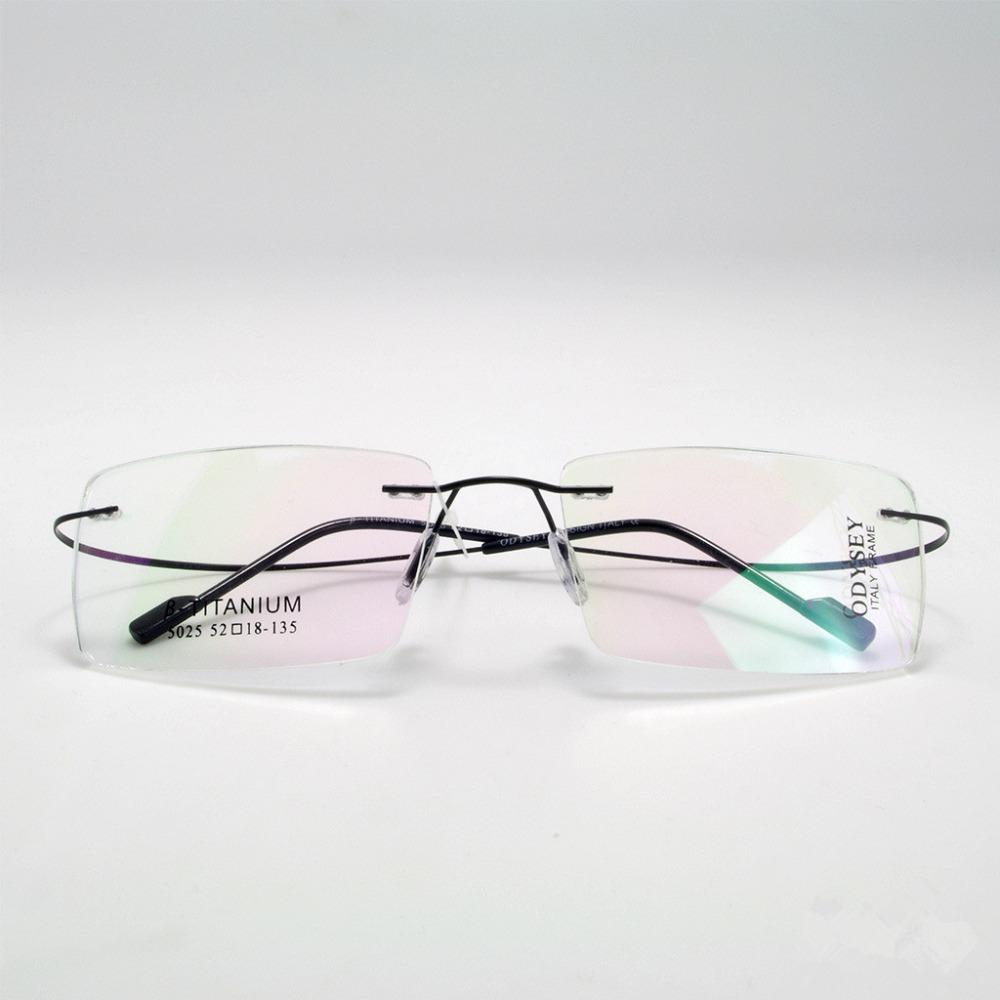 c8d53b2b8b25 2019 Classic Man Woman Titanium Frameless Glasses Business Glasses  Ultralight Titanium Frameless Frame From Poety