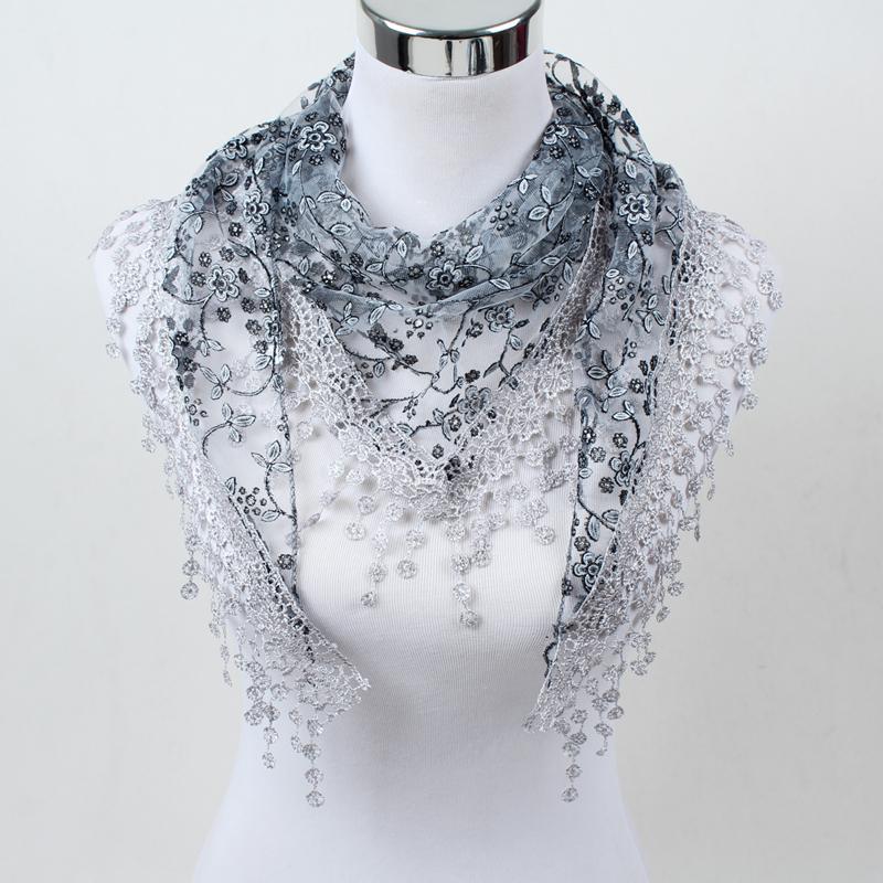 Acheter 2018 Nouvelle Sortie D usine De Style! Écharpe De Mode Des Femmes,  Écharpes De Fleur Des Dames, Écharpes En Soie D argent De Soie De Soie, ... bb3d5821828