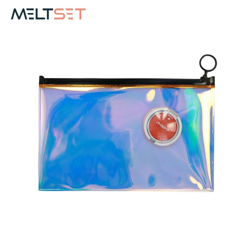 3f0b571f0348 Holographic Transparent Cosmetic Storage Bag Hologram Laser Women Makeup  Bag Portable Travel Toiletry Beauty Pouch Case