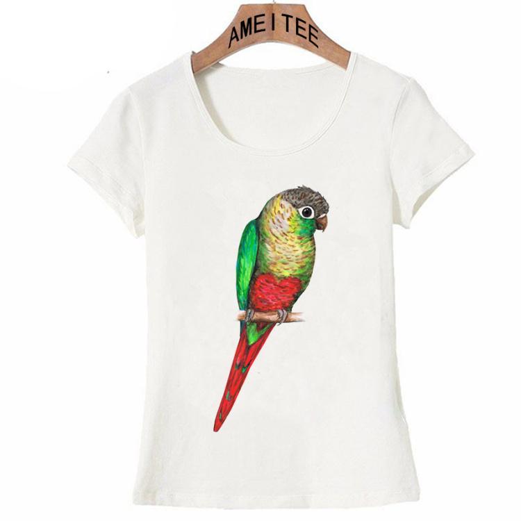 New Summer Fashion Women T Shirt Cute Green Cheeked Parakeet A Heart On Its  Belly T Shirt Maiden Casual Tops Bird Female T UK 2019 From Baxiagogo d035d4fe6c