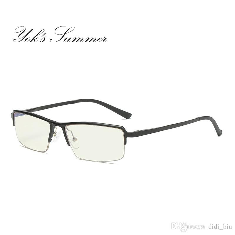 47dc5c61905 Yok s Summer Anti Blue Ray Computer Glasses Aluminum Frame Eyeglasses  Optical Spectacles Men Rectangle Reading Eyewear UH130 Computer Gaming Glasses  Anti ...