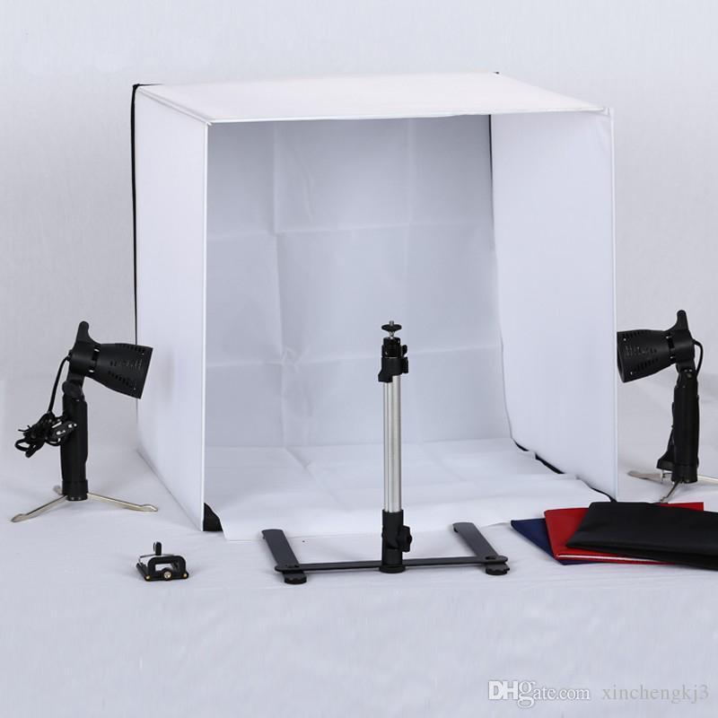 50 cm 50 cm tafel top foto fotografie studio verlichting licht tent kit in een doos 4 achtergronden met 250 w lampen online with 7404piece on