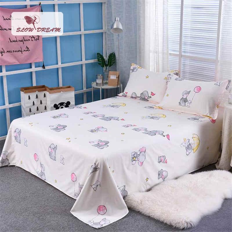 2019 Slowdream Flat Sheet Nordic Bed Flowers White Comforter