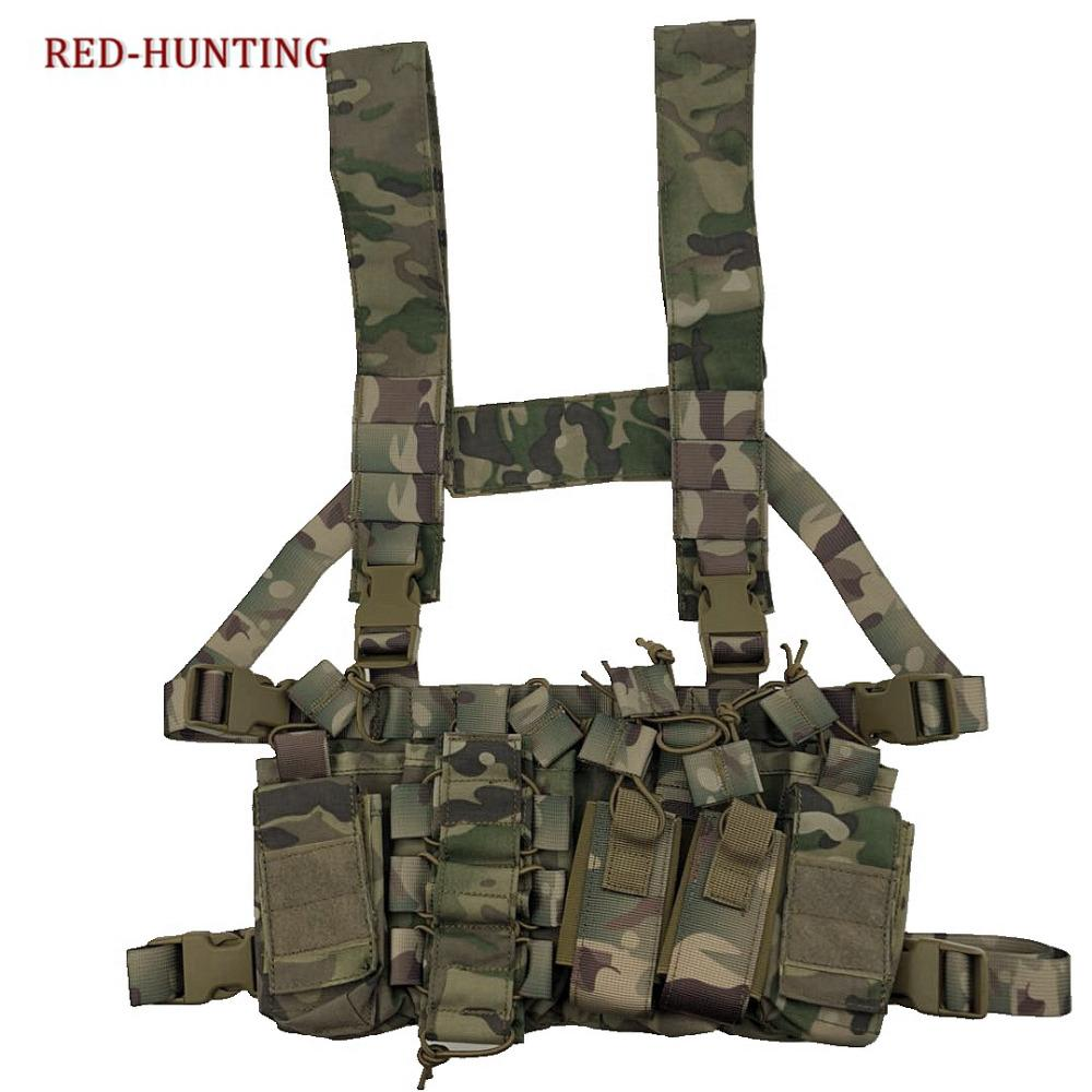 Multicam Tactical Molle Vest Ammo Chest Rig Removable Hunting ... 2bf5fd2c74