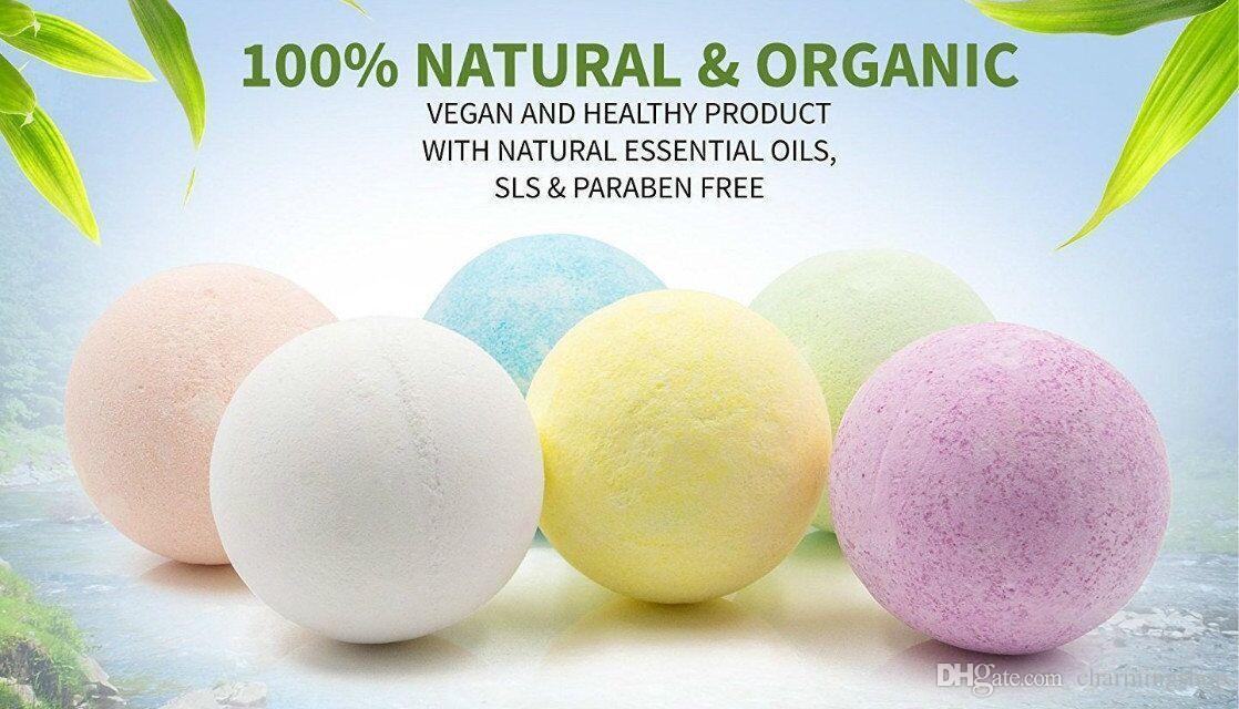 Natural Bubble Bath Bomb Ball 40g Random Color Essential Oil Handmade SPA Bath Salts Ball top quality free DHL