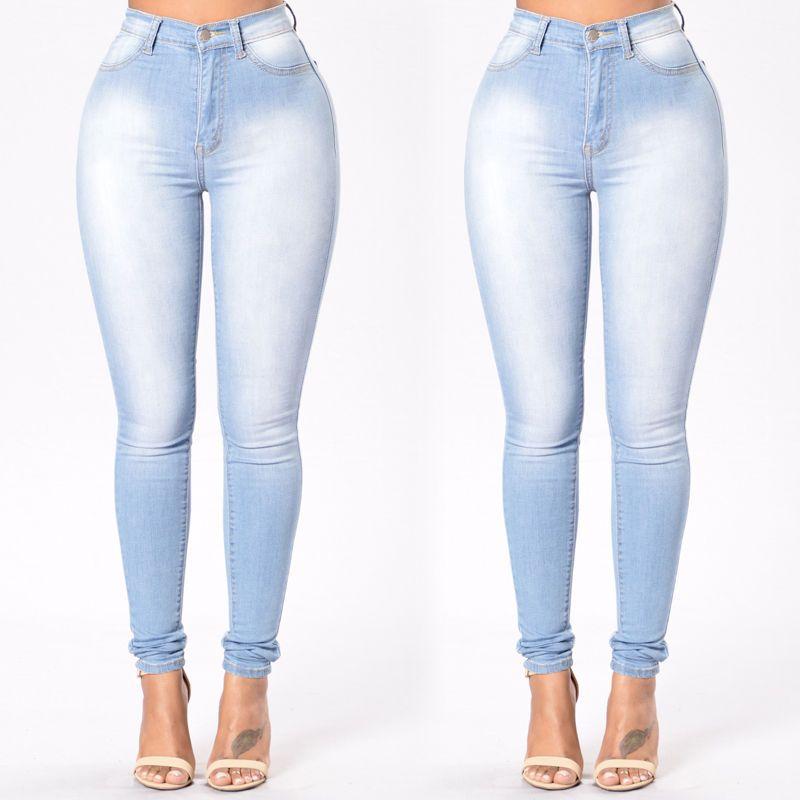 5e2639008d7 New Fashion Women Denim Skinny Jeggings High Waist Stretch Jeans ...