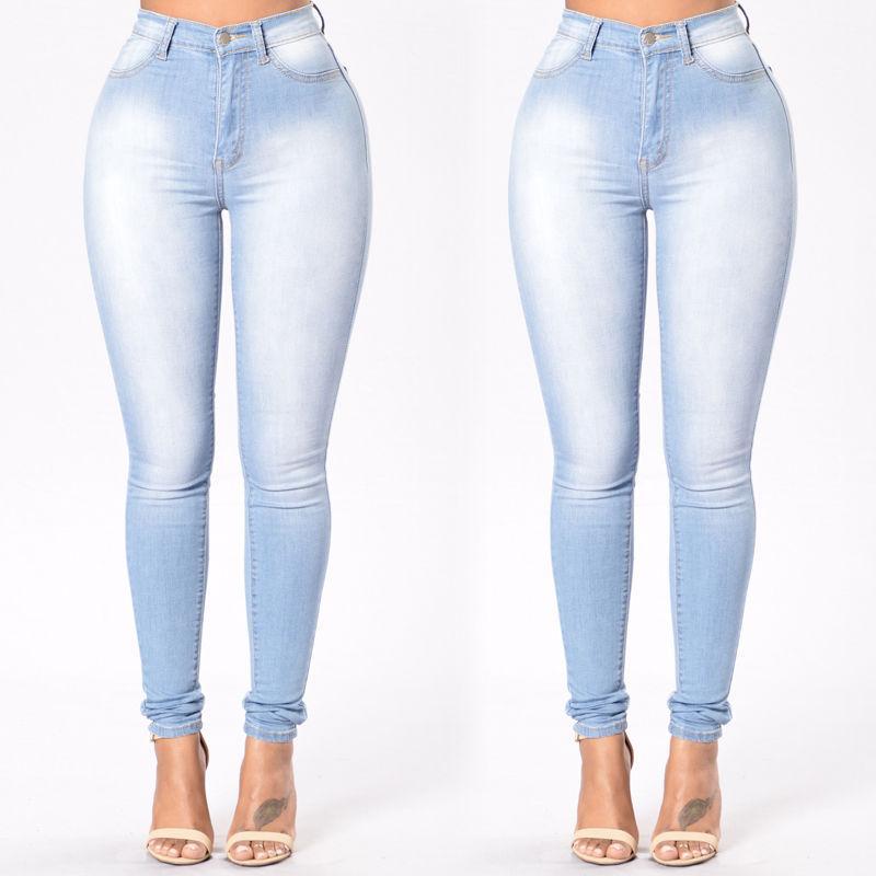 dc60937495 Compre Nuevas Mujeres Del Dril De Algodón Jeggings Flacos De Cintura Alta  Stretch Jeans Slim Pencil Trousers Plus Size A  24.71 Del Flowter