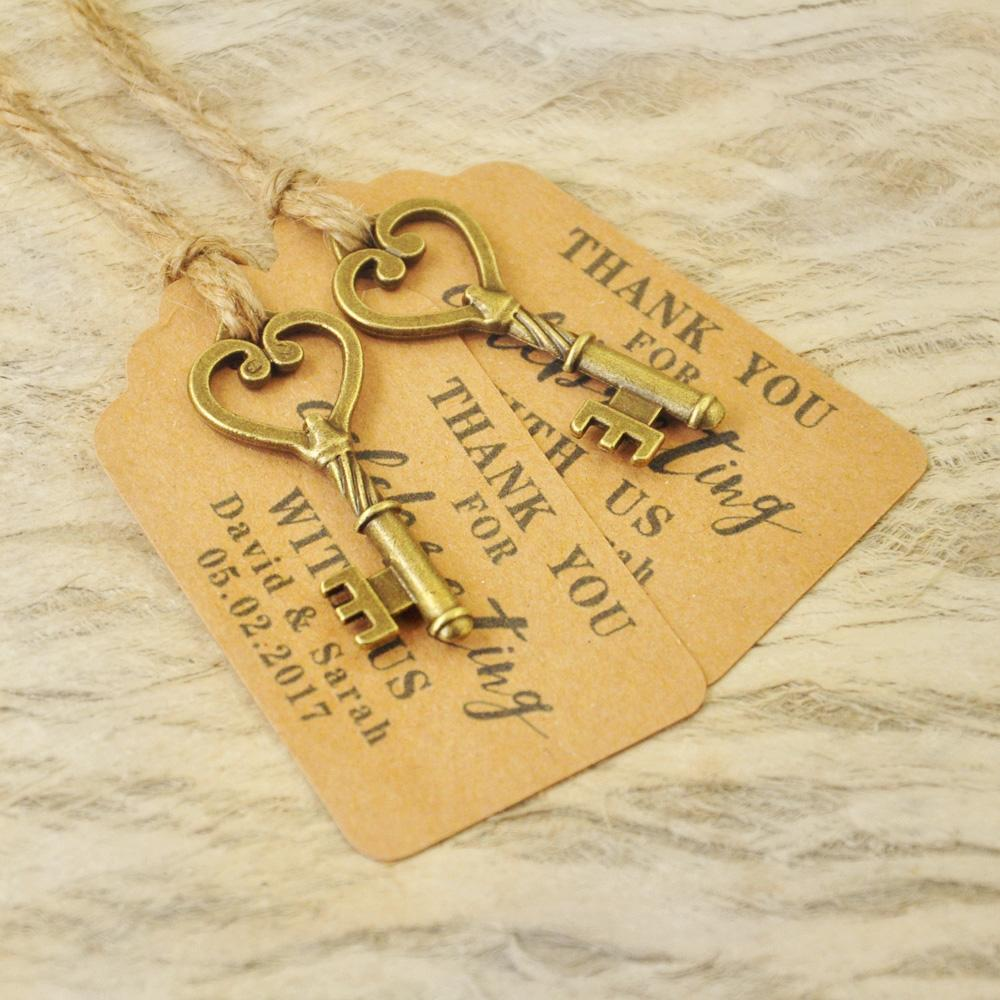 Personalized Favor Tags Wedding Tags Antique Key Gift Escort Card ...