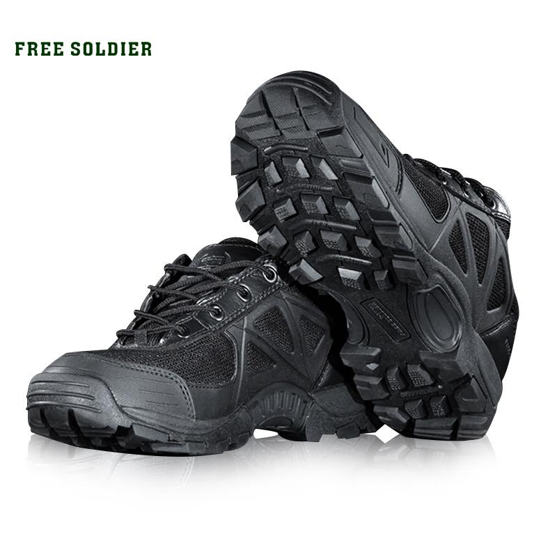 the best attitude 03fd0 d1ee3 Free Soldier Outdoor Sports Camping Hiking Men Shoes Mountain Non -Slip  Breathable Tactical Boots for Men Outdoor Shoes