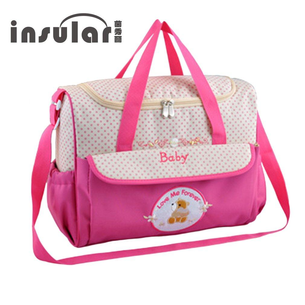 ee7e93546f INSULAR Mummy Baby Bag Multifunctional Baby Diaper Changing Shoulder Bag  Maternity Handbag For Mom From Gaozang