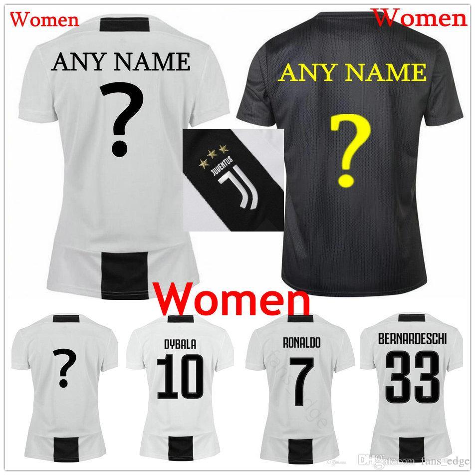 cb82843f5 ... usa 2018 18 19 women juventus soccer jerseys 7 ronaldo buffon dybala  mandzukic pjanic chiellini custom