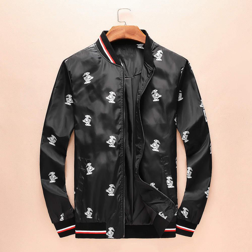 456216d7b Men Printed Designer Jackets Fashion Luxury Brand Stand Collar ...