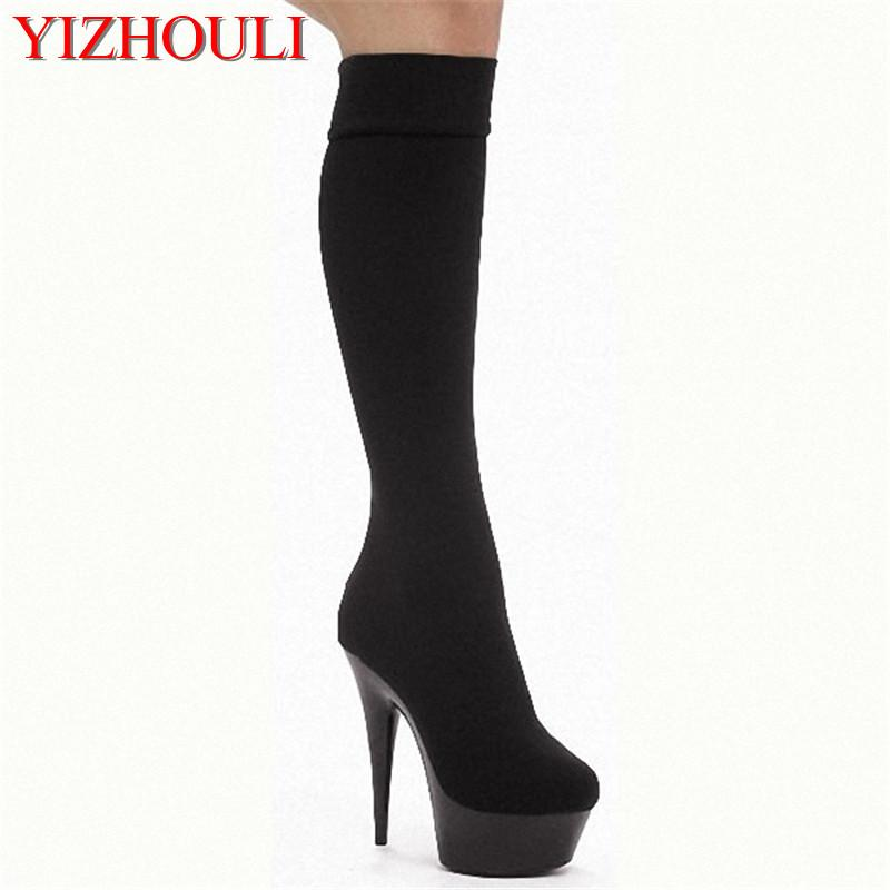 15cm Ultra High Heels Boots Barreled Platform Japanned Leather 6 Inch  Performance Shoes Plus Size Knee High Boots For Women Boots Pharmacy Chukka  Boots From ... ce9b64d73d