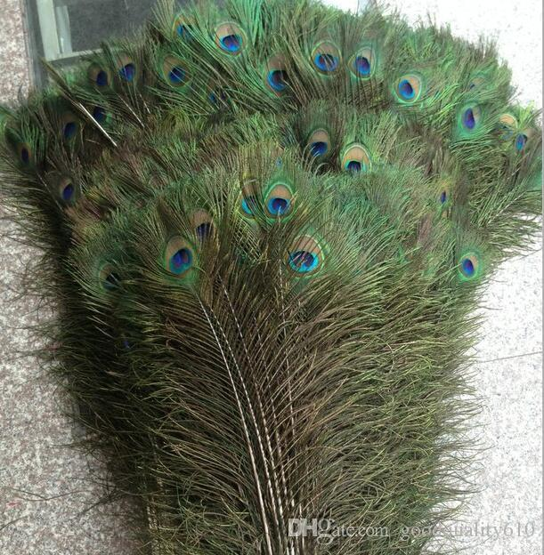 """New Feather Peacock TAILS 10""""-12"""" Tail Feathers Fan For Wedding Party Decoration Craft Diy"""