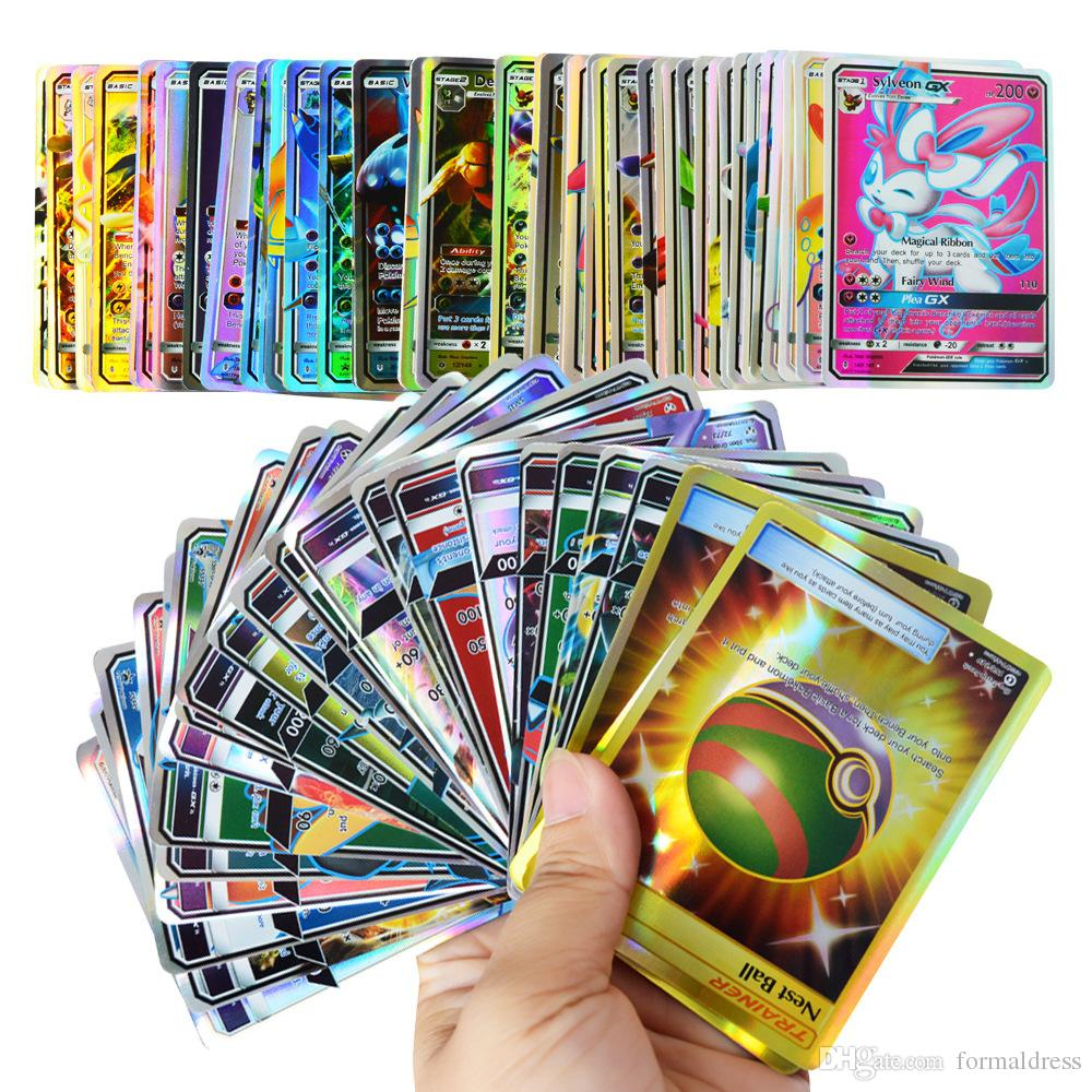 6adf3e8663 New Card Flash Card Of GX EX Collection Of Cards Cute Card Set Mega Poker  Cards Toys English Version For Girls And Boys Games Play A Card Card Games  From ...