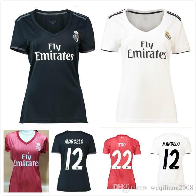 Chicas De Fútbol Para Asensio Madrid Tercera 19 Isco Roja 2019 18 Vinicius Dama Real Camisetas Mujeres Blancas yIgfvmY7b6