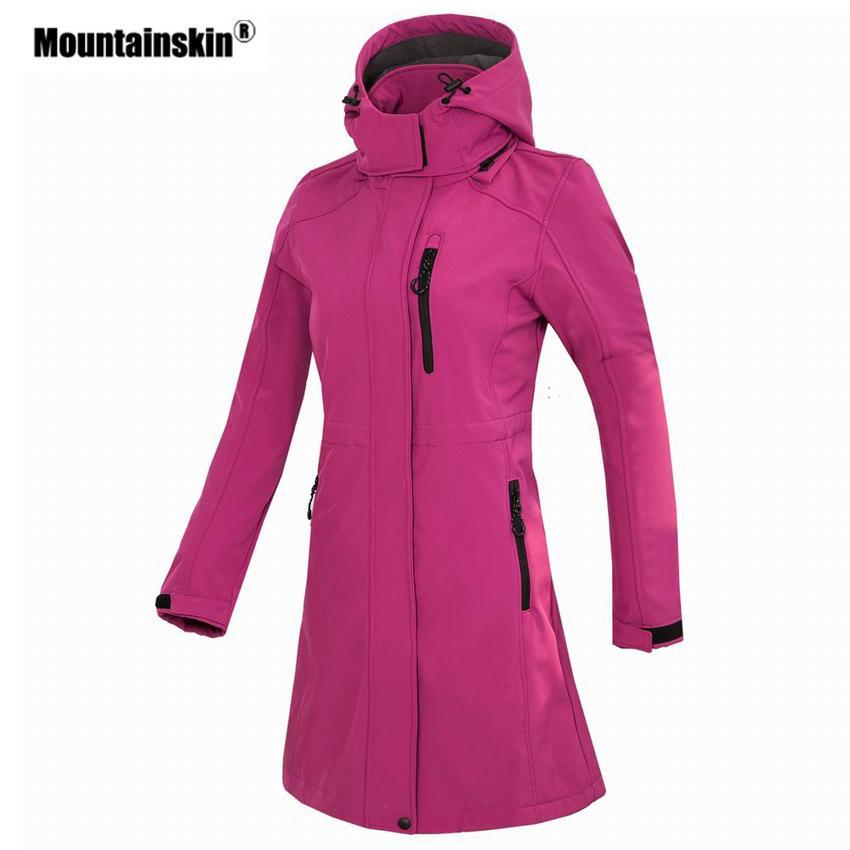 Acquista Softshell Donna Softshell Giacca Lunga Giacca A Vento Da Esterno  Escursionismo Campeggio Trekking Arrampicata Femminile Cappotti Di Marca  VB076 ... 5fe3e23edc26