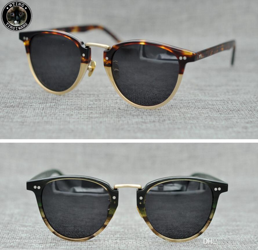 28d08e360d9a0 Compre Marca Oliver Peoples Eyewear Rodada Do Vintage Olho De Gato Óculos  De Sol Das Mulheres Óculos De Marca Retro Feminino Cat Eye Espelho Óculos  De Sol ...