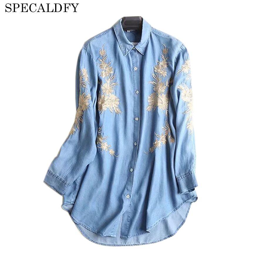 176455b802 2019 Denim Shirt Women Long Sleeve Shirt Blouse Ladies Tops Spring 2018  Fashion Jeans Shirts Camisa Vaquera Mujer Camisas Femininas From Vanilla01