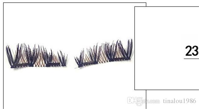 Magnetic Eye Lashes 3D Reusable False Double Magnetic Dual Magnet Eyelashes Extension 3d eyelash extensions magnetic eyelashes