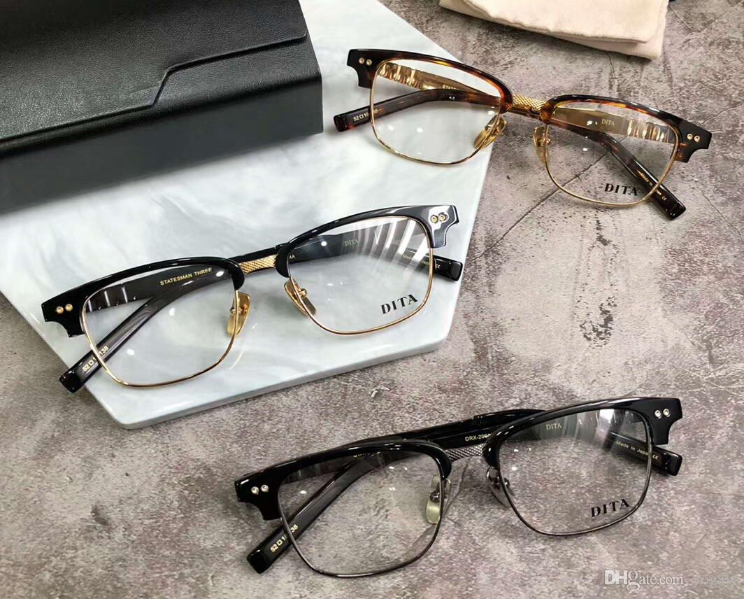 3f9392d13f2 Glasses Eyeglasses Statesman Three Black Gold Optical Frame Luxury ...