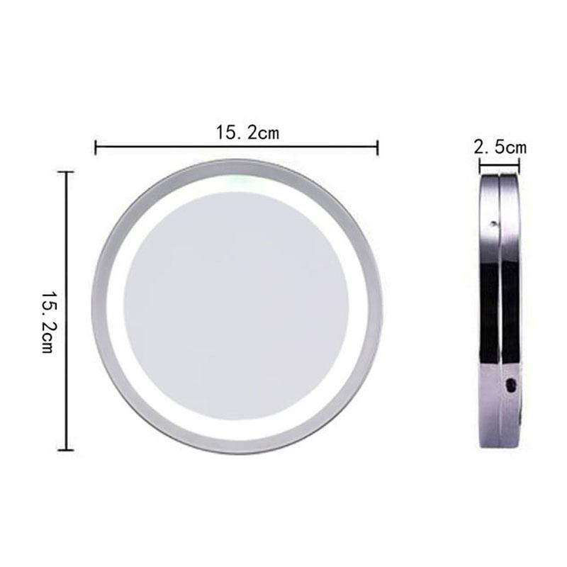 6 Inches LED Round Makeup Mirror 3x/5x Magnification Suction Cup Wall  Hanging Bathroom Mirrors Living Room Mirrors Magnifying Mirror With Light  From Mnyt, ...